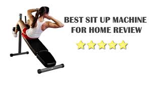 best sit up machine for home review youtube