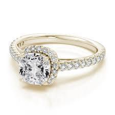 vintage halo engagement rings 0 41ctw cushion cut vintage halo engagement ring in 18k