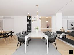 contemporary dining room designs which combining a modern and
