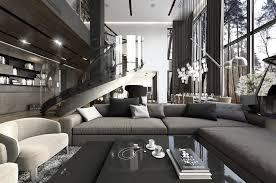 Sofa Table Lamp Height Living Room White Armchair Gray Sofa White Floor Lamp Dark Glass