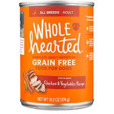 wholehearted grain free chicken and vegetable recipe wet dog