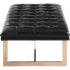 duet black leather tufted piano bench 35 wideblack tufted dining