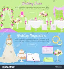wedding decor wedding preparations web banner stock vector