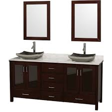 Double Sink Bathroom Vanity Water Creation Derby Inch Solid - Pictures of bathroom sinks and vanities 2