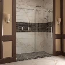 Dreamline Shower Doors Frameless Dreamline Enigma X 56 To 60 Inches Fully Frameless Sliding Shower