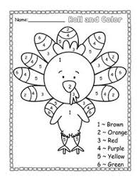 freebie turkey color by number teacherspayteachers