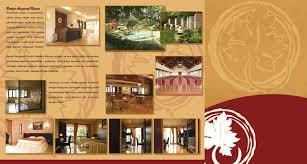 contoh desain brosur hotel berkat anugerah resort brosur
