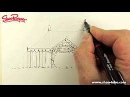 how to draw a circus tent youtube