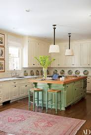 Green And White Kitchen Cabinets Painted Kitchen Cabinet Ideas Photos Architectural Digest