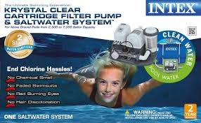 intex 120v krystal clear saltwater system pool chlorinator
