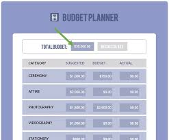 wedding budget planner wedding budget calculator free planner tool