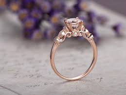 promise ring vs engagement ring 6 5mm morganite gold engagement ring marquise solid 14k