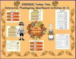 freebie turkey time interactive thanksgiving smartboard