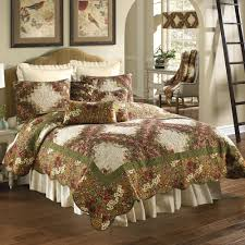 watercolor chain floral quilt bedding by donna sharp
