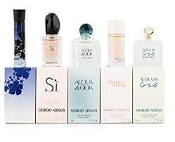 gift sets for women giorgio armani variety 5 mini gift set for