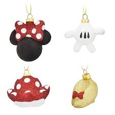 ornament set minnie mouse parts set of 4