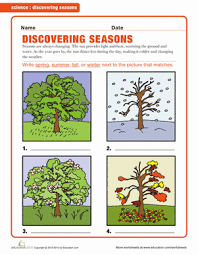 the four seasons science worksheets earth space and the four