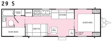 Fleetwood Travel Trailer Floor Plans Used Fleetwood 2000 Fleetwood Prowler 29s 31 U00271
