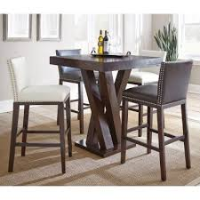 square pub table with storage american drew tribecca 5 piece square bar table upholstered in set