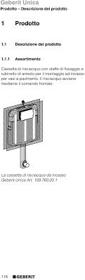 cassetta geberit unica cassetta di risciacquo da incasso pdf