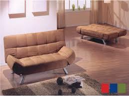 brown microfiber sofa bed klik klak microfiber sofa bed in brown blue and black