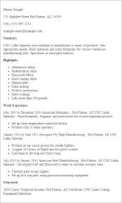 Sample Resume For Programmer by Professional Cnc Lathe Operator Templates To Showcase Your Talent