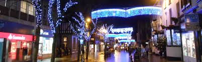 Commercial Christmas Tree Decorations Uk by Town Centre Festive Lighting Christmas Lighting From Christmas