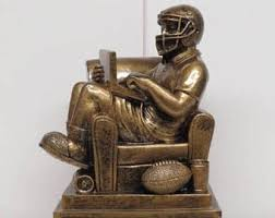 Fantasy Football Armchair Quarterback Trophy Quarterback Etsy
