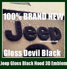 jeep grand cherokee stickers jeep gloss devil black hood truck emblem badge front wrangler grand