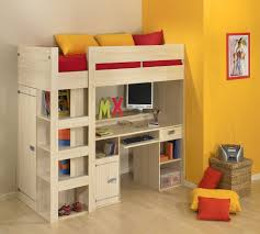Bunk Bed With Trundle And Drawers Beautiful Bunk Beds With Slide And Desk Bedroom Intended Trundle