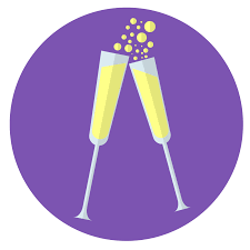 champagne glass cartoon champagne glasses icon skillshare projects