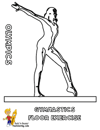 gymnastics coloring pages to print printable coloring pages exercise