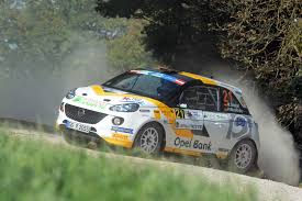 opel rally car marijan griebel and opel together to european rally championship