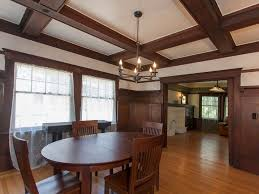 arts and crafts style homes interior design craftsman dining room with wood dining table u0026 hardwood floors in
