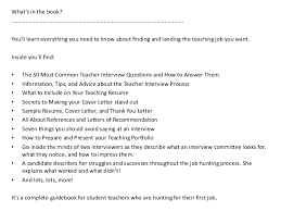 Teacher Resumes That Stand Out French Teacher Interview Questions In French