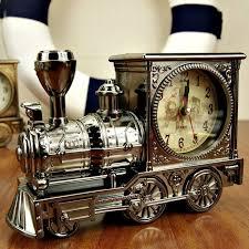 novelty gifts home decorative train shape desk clock cool kids