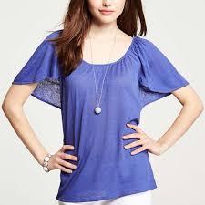 periwinkle blouse 79 tops periwinkle flutter sleeve