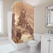 vintage ship shower curtains zazzle