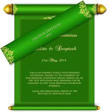 Indian Wedding Card Samples All Scroll Style Email Wedding Card Templates U2013 Luxury Indian