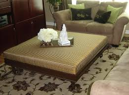 How To Make An Ottoman From A Coffee Table Large Fabric Ottoman Coffee Table Dans Design Magz Fashionable