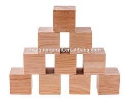 shangdong customized wooden cubes cheap wooden blocks wholsale art