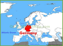 map of gemany germany location on the europe map