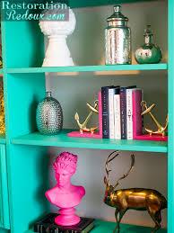 green retro bookshelf makeover bloggers u0027 best diy ideas