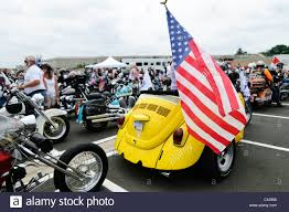 yellow volkswagen beetle royalty free a customized bike using the tail end of a yellow vw beetle stock