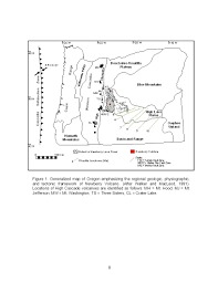 Oregon Volcano Map by Figure 1 Generalized Map Of Oregon Emphasizing The Regional