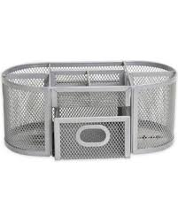 Mesh Desk Organizer Great Deal On Org Oval Wire Mesh Desk Organizer In Silver