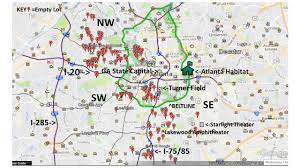Metro Atlanta Map Where We Build Atlanta Habitat For Humanity