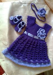 baby dress headband and booties in purple lavender baby