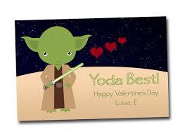 yoda valentines card wars inspired cards yoda digital file