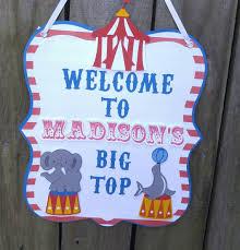 Circus Birthday Decorations Circus Birthday Welcome Signcircus Birthday Decorations